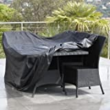 Outdoor Furniture Cover - Furniture Covers Waterproof - Outdoor Patio Waterproof Dustproof Folding Furnitur Cover Rectangular Table Chairs Protective Cover ( Garden Furniture Covers )