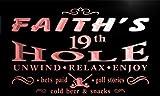pig479-r Faith's 19th Golf Hole Beer Bar Neon Light Sign