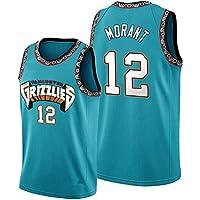 WOLFIRE WF Camiseta de Baloncesto para Hombre, NBA, Memphis Grizzlies #12 Ja Morant. Bordado, Transpirable y Resistente…