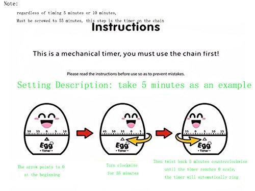 Drivworld Egg Timer Q Meng Cartoon Lovely Plastic