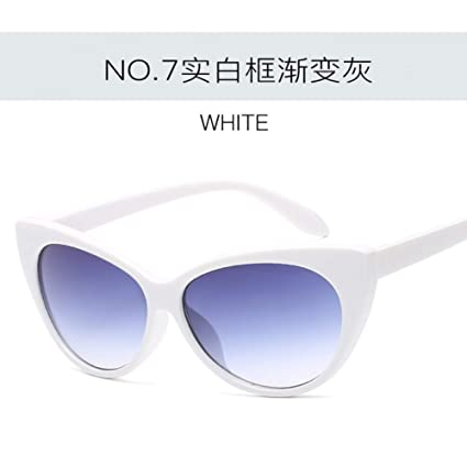 Amazon.com : YHEGV Fashion Cat Eye Black Frame Sunglasses ...