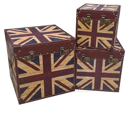 Large Vintage Retro Union Jack Design Wooden Trunk Chest Storage Box  sc 1 st  Amazon UK & Large Vintage Retro Union Jack Design Wooden Trunk Chest Storage Box ...