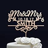 Gold Glitter WEDDING CAKE TOPPER // Custom Cake Topper Mr and Mrs - Personalized Cake Topper for Wedding - Last Name Wedding Cake Topper