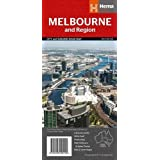 Melbourne & Region Handy Map 1:12.9K Hema