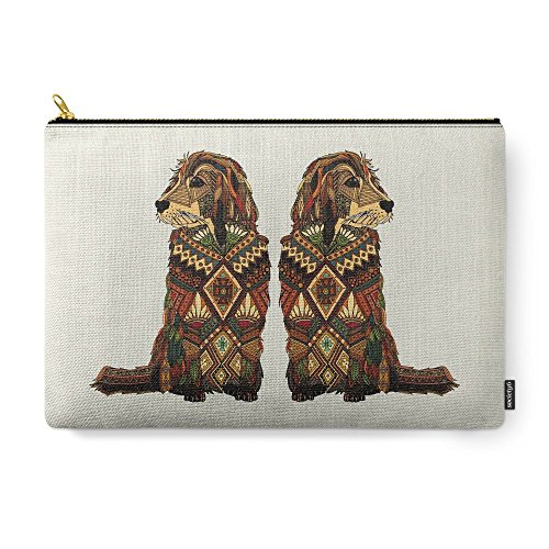 Society6 Golden Retriever Ivory Carry-All Pouch Large (12.5