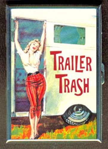 Trailer Trash Pin Up Retro ID Wallet or Cigarette Case USA Made