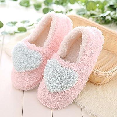 LaxBa Cálido invierno zapatillas, zapatillas de felpa, hogar de invierno cálido invierno antideslizante SHOES zapatillas de casa azul cielo36-37