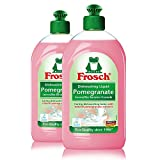 Frosch Natural Pomegranate Liquid Hand Dish Washing Soap, 500 ml (Pack of 2)