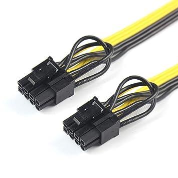 TopgadgetsUK - Cable Divisor para CPU de 8 Pines a Tarjeta gráfica ...