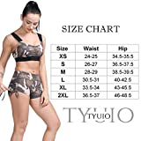 TYUIO Women's Stretch Solid Athletic Shorts Side