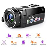 """Camcorder,Bekhic Infrared Night Vision Remote Control Handy Camera HD 1080P 24MP 18X Digital Zoom Video Camera DV with 3.0"""" LCD and 270 Degree Rotation Screen"""