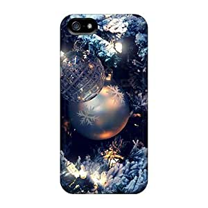 New Fashionable Anglams GTe5891vhsI Cover Case Specially Made For Iphone 5/5s(christmas Blue)