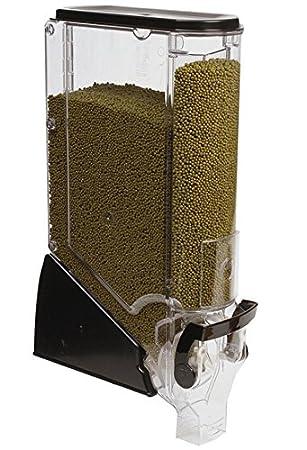 Fixture pantallas 5 gallon dispensador de alimentos W/etiqueta soporte, flujo continuo - Negro 19515 19515: Amazon.es: Oficina y papelería