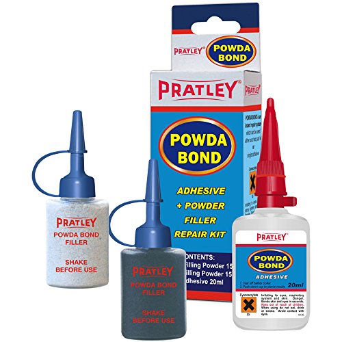 Pratley Powda Bond - Plastic Repair - Car Bumper Fix and Crack Filler Kit - for Automotive Parts like Radiators and Headlights - Heavy Duty, Quick Set - for Most Plastics, Metal, Glass, Fiberglass