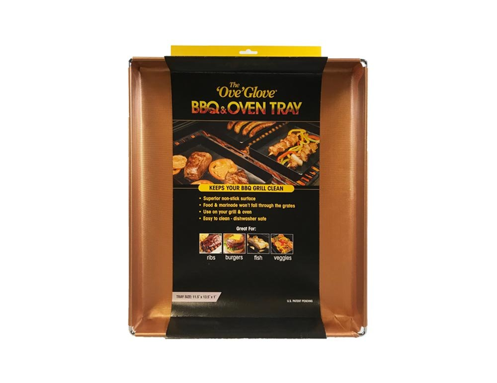 Ove Glove The BBQ & Oven Tray - Non-Stick, Reusable, and Easy to Clean Barbecue Grilling and Oven Accessory (Large, Copper)