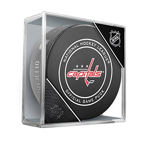 Inglasco NHL Washington Capitals Regular Season 960T 2018 Official Game Puck, One Size, Black by Inglasco