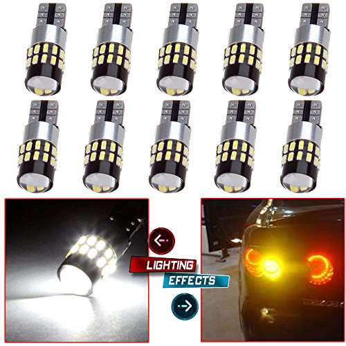 cciyu T10 High Power LED Light Bulb 194 LED Light Lamp 168 Error Free Light Replacement fit for Front Rear Side Marker Light, Backup Reverse Light (Led Marker Accent Side)
