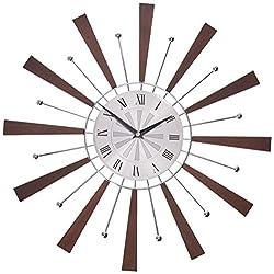 Telechron Spindle Clock, Espresso/Silver