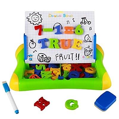 Hm Toys Giochi Lavagna Magnetica Abc Puzzle Magnetico Lettere Numeri 57pcs Per 3