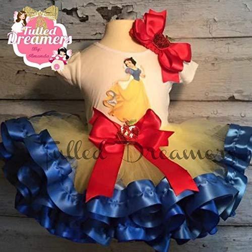 0f55f0d953e Amazon.com  Snow White Tutu Birthday Outfit  Handmade