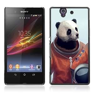 Designer Depo Hard Protection Case for Sony Xperia Z L36H / Panda Bear Astronaut