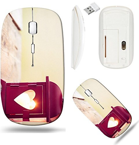 Metal Back Choose Cut Out - Liili Wireless Mouse White Base Travel 2.4G Wireless Mice with USB Receiver, Click with 1000 DPI for notebook, pc, laptop, computer, mac book Decorative red metal lantern with a heart cutout lit by a