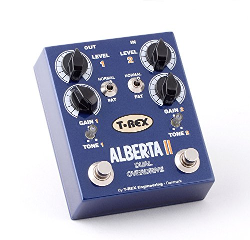 T-Rex Engineering ALBERTA-II Dual Overdrive Guitar Effects Pedal with Two Independent Channels; Individual Boost Function and Tone Controls for Each Channel (10035)