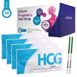 Pregnancy Test Strips One Step Urine Test Kit (Hcg) by Utilax -30 Tests - Over 99% Accurate, Easy to Test, Clear Result, Cost Effective (30)