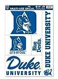 WinCraft NCAA Duke Blue Devils 11'x 17' Jumbo Multi-Use 5 Decal Set