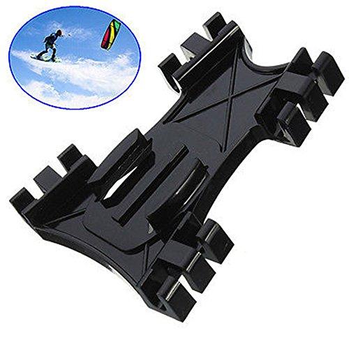 Ollivan® Kiteboarding Kitesurfing Sitzhalter-Surfen Kite-Linie Adapter Kite Linie Surfbrett Mount Adapter für GoPro Hero 2 3 3 + 4 SJ4000 Kamera Schwarz