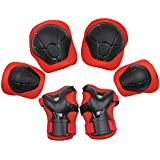 Sports Protective Gear Safety Pad Safeguard (Knee Elbow Wrist) Support Pad Set Equipment for Kids Roller Bicycle BMX Bike Skateboard Protector Guards Pads.