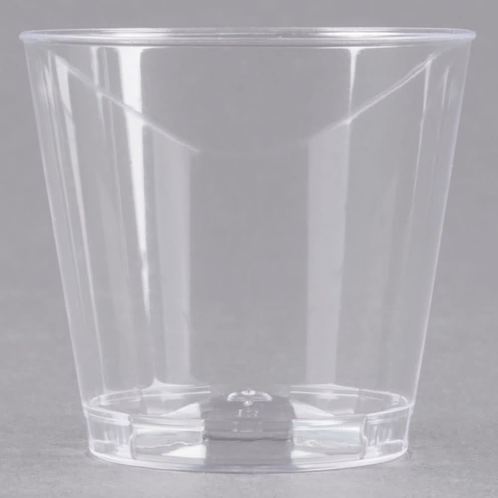 Fineline Quenchers 401-CL 1 oz. Plastic Shot Cup - 2500/Case by Fine-line