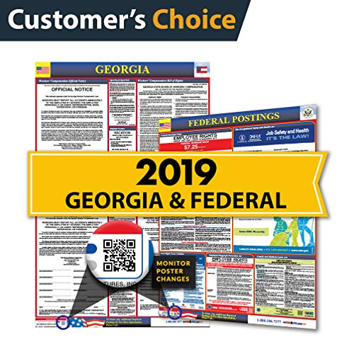 2019 Georgia State & Federal Labor Law Posters for Workplace Compliance