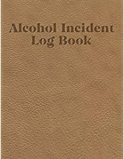 Alcohol incident log book: Simple layout for easy record keeping: Tan leather effect cover