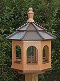 Vinyl Gazebo Bird Feeder Amish Homemade Handmade Handcrafted Cedar & Brown med