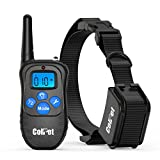 Colpet 330-Yard Range Rechargeable Waterproof Dog Shock Collar with Remote, Black