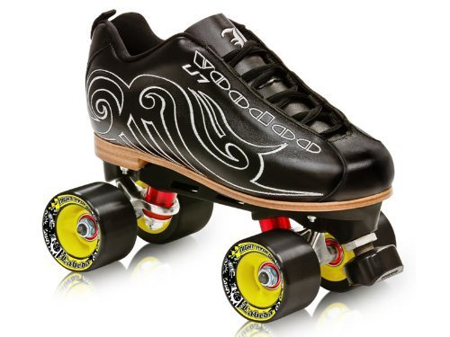 LABEDA VOODOO U-7 ROLLER SKATES (Midnight Black, 8)