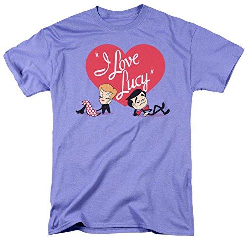 I Love Lucy Men's Content Classic T-shirt Large Lavendar
