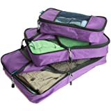 TravelWise Packing Cube System - Durable 3 Piece Weekender Set [2014 Version]