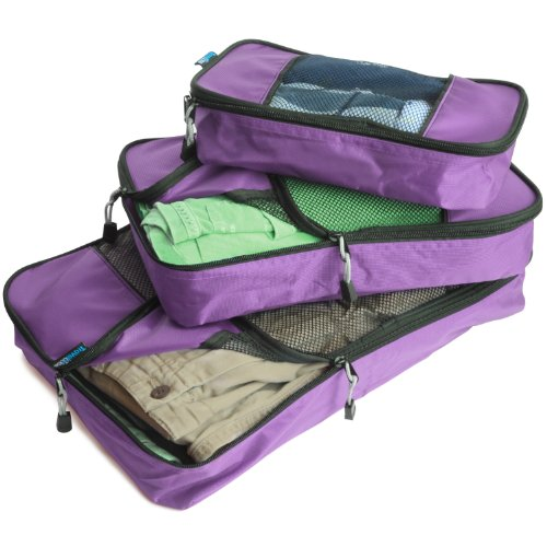 TravelWise Packing Cube System – Durable 3 Piece Weekender Set [2014 Version]