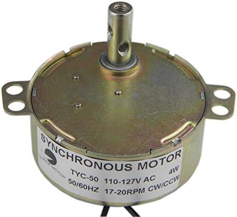 CHANCS TYC-50 Synchronous Gear Motor 110V AC 17-20RPM CW//CCW Torque 4W Electric Motor