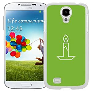 Beautiful Unique Designed Samsung Galaxy S4 I9500 i337 M919 i545 r970 l720 Phone Case With Simple Flat Candle Illustration_White Phone Case