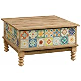Sauder 420124 Viabella Lift Top Coffe Table, 32.28 L x 32.28 W x 17.95 H, Antigua Chestnut