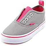 Vans Girls' Authentic V (Inf/Tod) - (Polka Dots) Frost Gray/Hot Pink - 6 Toddler