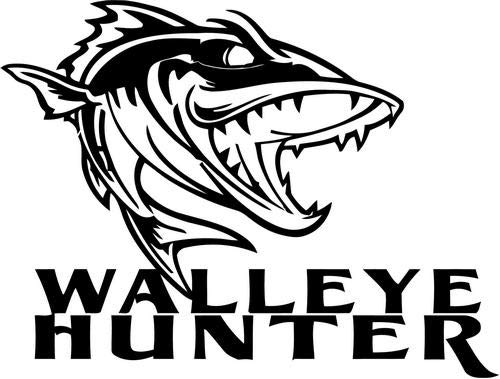 - Mandy Graphics Walleye Hunter Fish Fishing Vinyl Die Cut Decal Sticker for Car Truck Motorcycle Windows Bumper Wall Home Office Decor Size- [8 inch/20 cm] Wide and Color- Gloss White