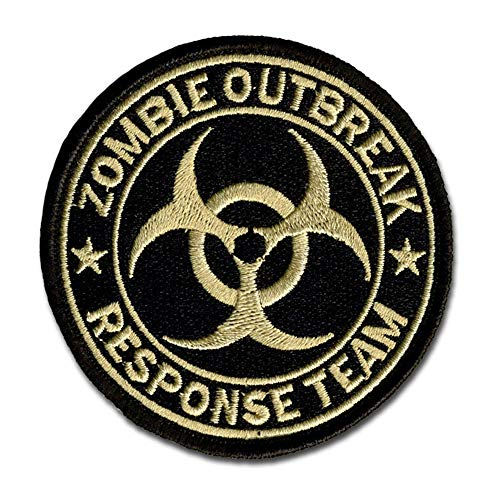 Bastion Tactical Combat Badge Military Hook and Loop Badge Embroidered Morale Patch - Zombie Response Team (Tan)]()