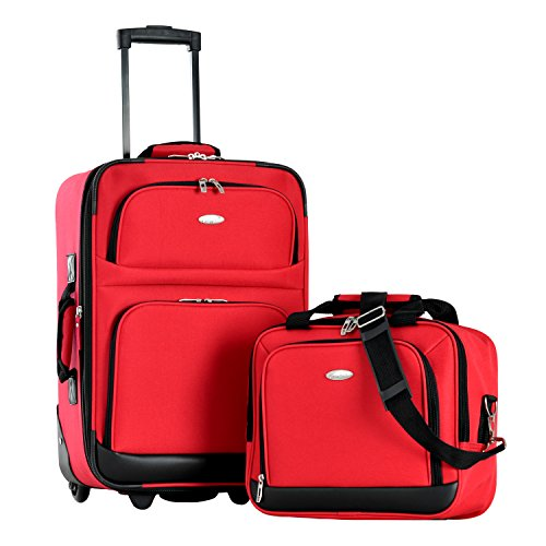 - Olympia Let's Travel 2pc Carry-on Luggage Set, Red