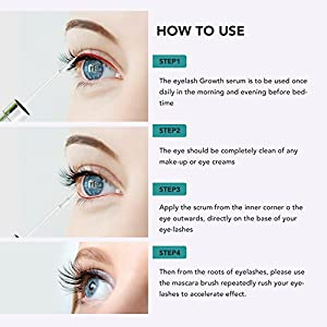 [Upgraded] Eyelash Growth Serum, Enhancer Great For Eyelash Growing, Thickening and Strengthening of Eyelashes, Best Eyelash Growth Serum for 2018