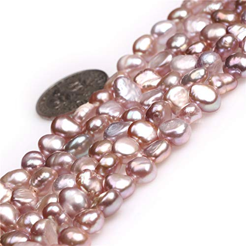 Freshwater Cultured Pearl Beads for Jewelry Making Gemstone Semi Precious 6-7mm Freeform Purple 15