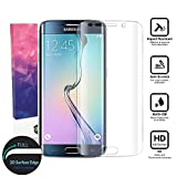 Image of Acoverbest Galaxy S6 Edge Glass Screen Protector Galaxy S6 Edge,[Full Coverage]Tempered Glass for Samsung Galaxy S6 Edge/G9250 [3D Curve][9H Hardness] - Clear